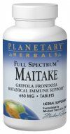 Full Spectrum Maitake Mushroom (600mg 120 tablets) Planetary Herbals