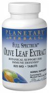 Full Spectrum Olive Leaf  (825mg  60 tablets) Planetary Herbals
