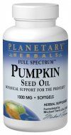 Full Spectrum Pumpkin Seed Oil (1000mg 90 softgels) Planetary Herbals