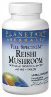 Full Spectrum Reishi Mushroom (460mg  100 tablets) Planetary Herbals
