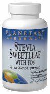 Stevia plus FOS (4 oz) Planetary Herbals