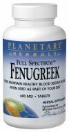 Full Spectrum Fenugreek (600mg  120 tablets) Planetary Herbals