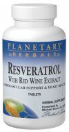 Resveratrol with Red Wine Extract  (60 tablets) Planetary Herbals