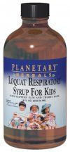 Loquat Respiratory Syrup for Kids (8 oz) Planetary Herbals