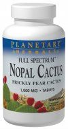 Full Spectrum Nopal Cactus (1000mg 120 tablets)* Planetary Herbals