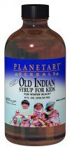 Old Indian Syrup for Kids  (8 oz) Planetary Herbals