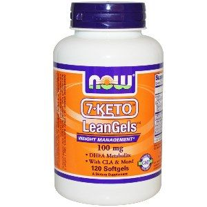7-Keto LeanGels (100 mg 120 gelcaps) NOW Foods