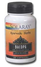 Bacopa Leaf Extract (60 caps) Solaray Vitamins