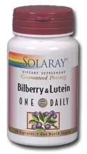 Bilberry & Lutein One Daily (30 caps) Solaray Vitamins