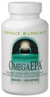 OmegaEPA Fish Oil (1,000 mg-100 softgels) Source Naturals