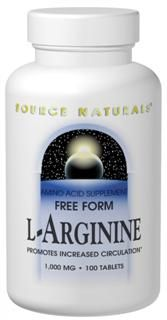 L-Arginine (1600 mg 3.53 oz) Source Naturals