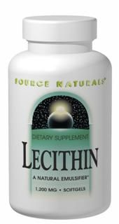 Lecithin (1,200 mg-500 softgels)* Source Naturals