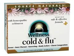 Wellness Cold and Flu (48 tabs) Source Naturals