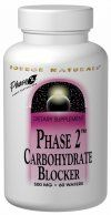 Phase 2 Carbohydrate Blocker (500 mg-120 wafers)* Source Naturals