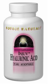 Injuv Hyaluronic Acid (70 mg-60 softgels) Source Naturals