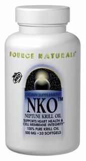 NKO Neptune Krill Oil (500 mg-60 softgels) Source Naturals