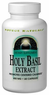 Holy Basil Extract (450 mg-60 caps)* Source Naturals