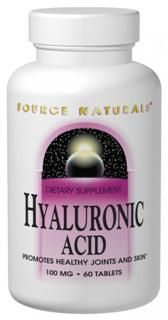 Hyaluronic Acid (100 mg -60 tabs) Source Naturals