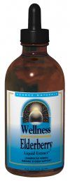 Wellness Elderberry Liquid Extract (4 fl oz) Source Naturals