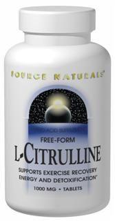 L-Citrulline (1,000 mg-120 tabs) Source Naturals