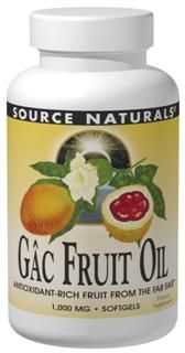 Gac Fruit Oil (1000 mg 60 softgels) Source Naturals