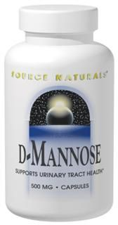 D-Mannose (500 mg 120 caps) Source Naturals