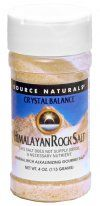 Himalayan Rock Salt by Crystal Balance (Fine Grind-12 oz.) Source Naturals