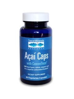 Acai Capsules (1000 mg - 60 caps) Trace Mineral Research