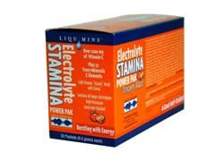 Electrolyte Stamina Power Pak -Orange Blast Flavor (1 box/ 32 packets) Trace Mineral Research