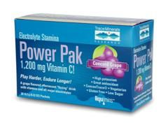 Electrolyte Stamina Power Pak Concord Grape Flavor (1 box/ 32 packets) Trace Mineral Research