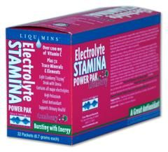 Electrolyte Stamina Power Pak Cranberry Flavor (1 box/ 32 packets) Trace Mineral Research
