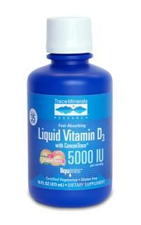 Liquid Vitamin D3 Tropical Cherry (5,000 IU - 16 oz) Trace Mineral Research