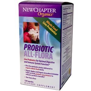 Probiotic All-Flora  (120 veg.capsules)* New Chapter Nutrition