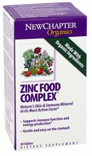 Zinc Food Complex (60 tablets)* New Chapter Nutrition