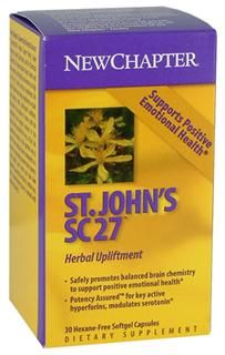 St Johns Wort SC27 (30 soft gels)* New Chapter Nutrition