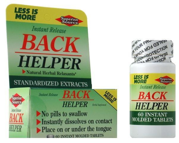 Back Helper (No Shot, Quick Release, 60 Instant Dissolve Mini Tabs) | Standardized Extracts Superior Source Vitamins