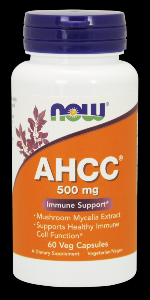 AHCC (60 Vcaps 500 mg) NOW Foods
