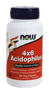 Acidophilus 4 X 6  Billion (120 Caps) NOW Foods