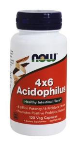 Acidophilus 4 X 6  Billion (120 Caps) NOW Foods