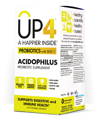 Acidophilus Probiotic Supplement (5 billion CFU 60 capsules) UP4 Probiotics