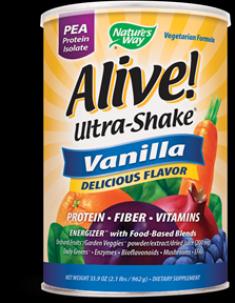 Alive! Pea Protein Shake Vanilla ( 2.1 lbs ) Nature's Way