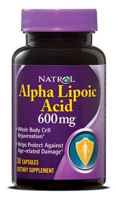 Alpha Lipoic Acid (600 mg - 30 capsules) Natrol