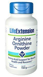 L Arginine Ornithine Powder (150 grams)* Life Extension