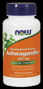 Ashwagandha 450 mg Extract (90 Vcaps) NOW Foods