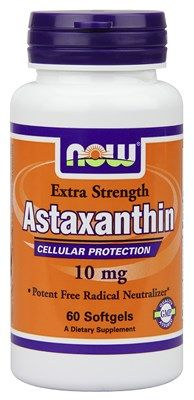 Astaxanthin Extra Strength (10 mg - 60 Softgels) NOW Foods