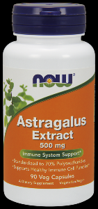 Astragalus 70% Extract (90 Vcaps 500 mg) NOW Foods