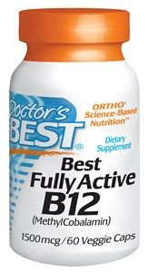 Fully Active B12 Methylcobalamin (1500mcg 60 vcaps) Doctor's Best