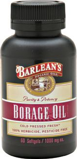 Borage Oil (60 soft gels) Barleans Organic Oils