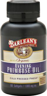 Organic Evening Primrose Oil (1300 mg - 60 soft gels) Barleans Organic Oils