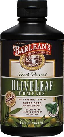 Olive Leaf Complex  (16 oz) Barleans Organic Oils